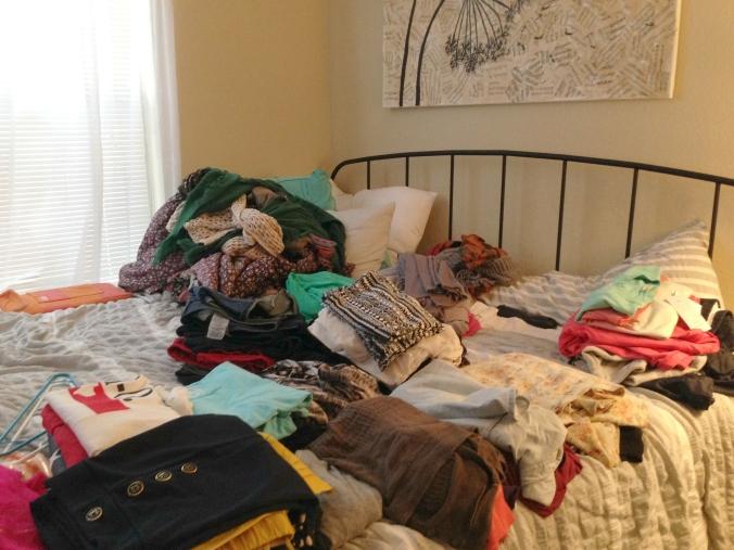 packing mess
