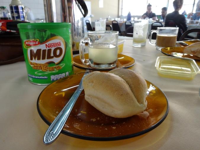 Bread for breakfast in Peru