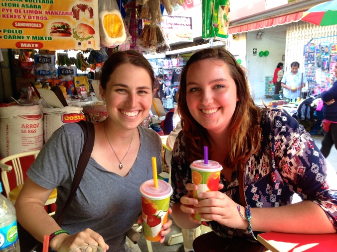 Fresh squeezed juice in Peru