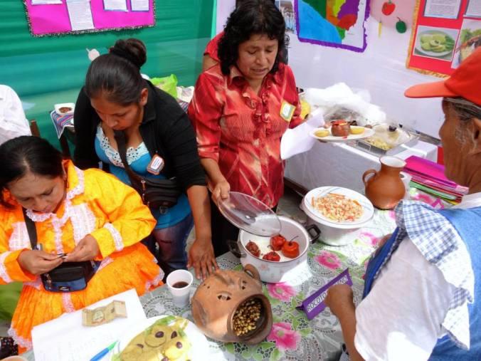 serving food at Yanacoto food fair