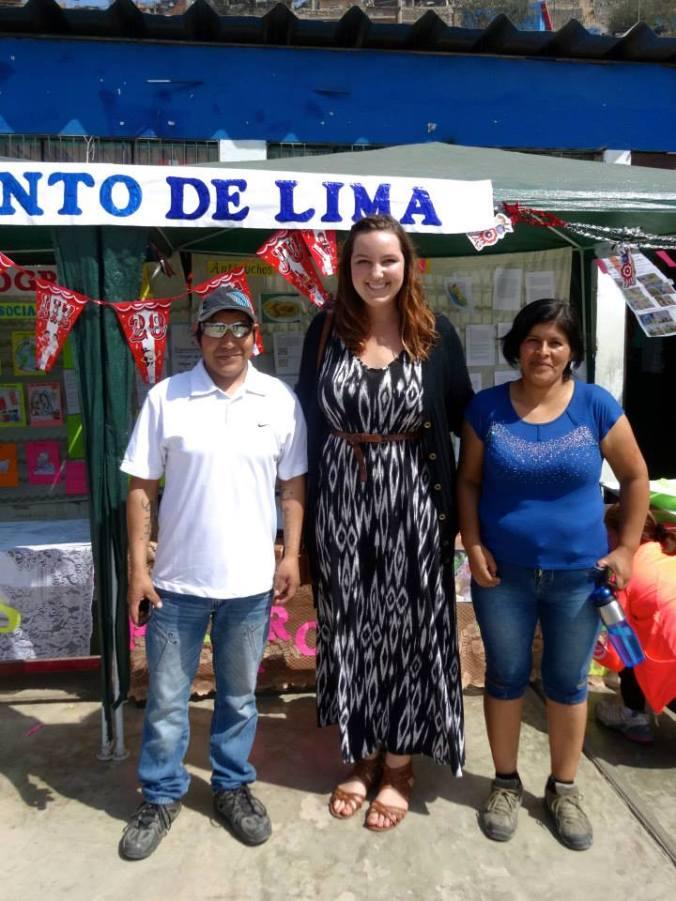 Host family at culture fair in Yanacoto
