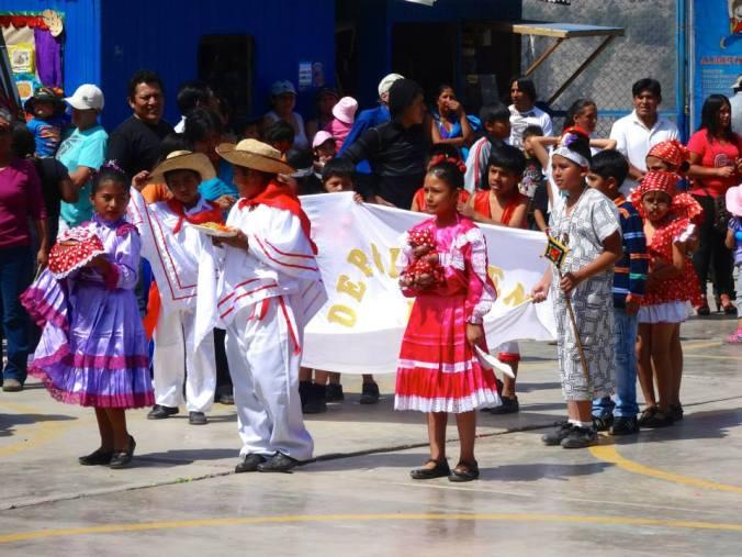 Peruvian culture fair parade