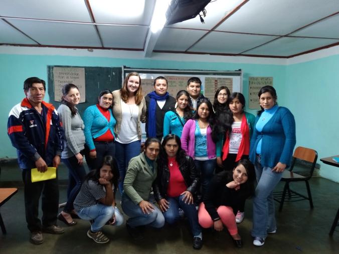 My students in Peru