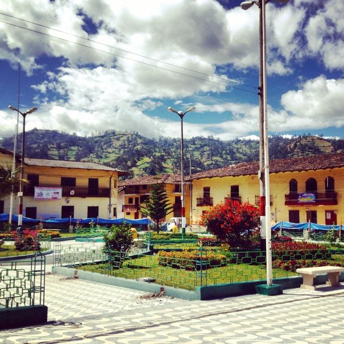plaza in San Miguel, Cajamarca