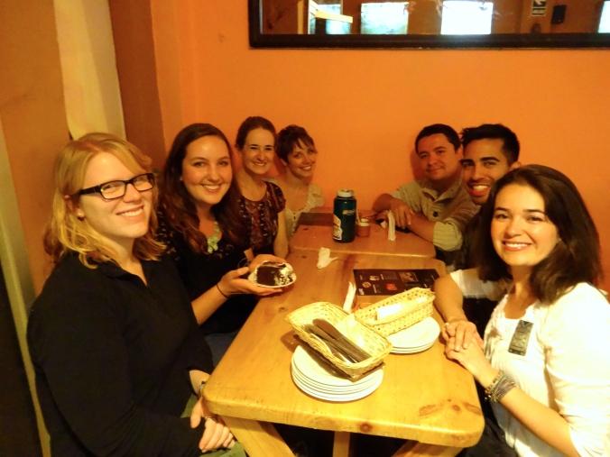 group birthday celebration in Cajamarca