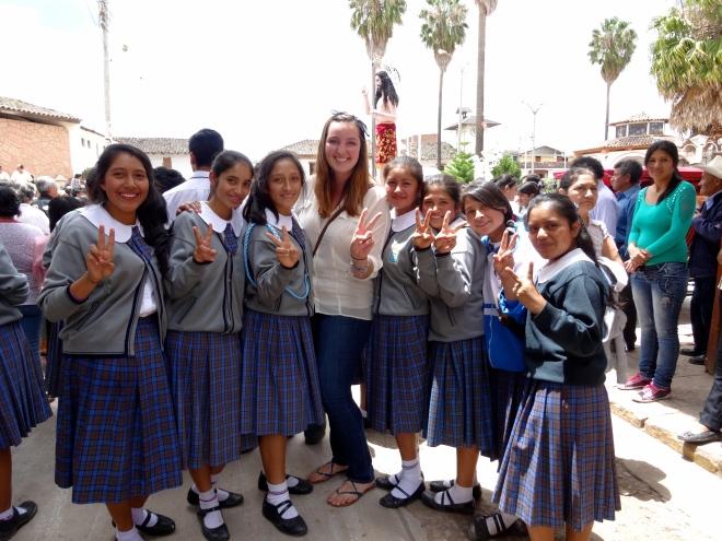 secondaria students in Santa Cruz Cajamarca
