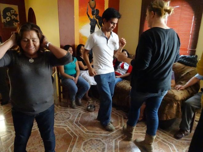 dancing at Peruvian wedding