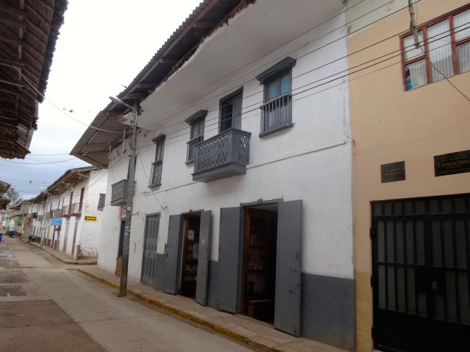 Street view. The two open doors are the fabric tienda.