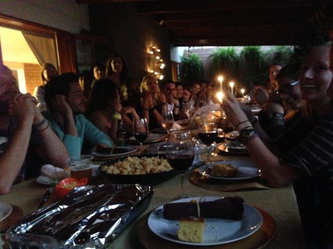 Candlelit Thanksgiving dinner in Peru
