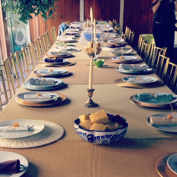 Thanksgiving dinner garden party