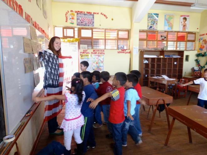Peace Corps Peru volunteer American culture class