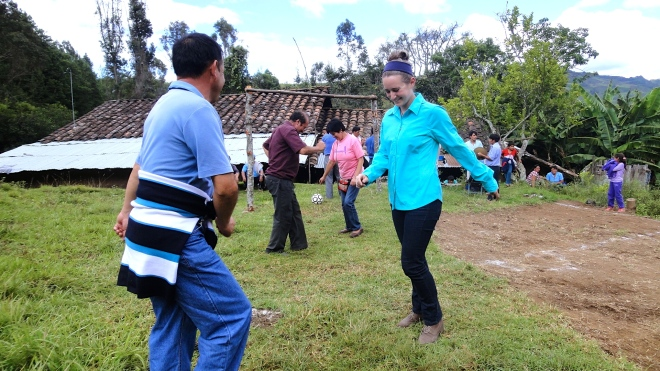 Peace Corps Peru Volunteer dancing