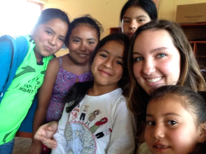 Peace Corps Peru Volunteer with students