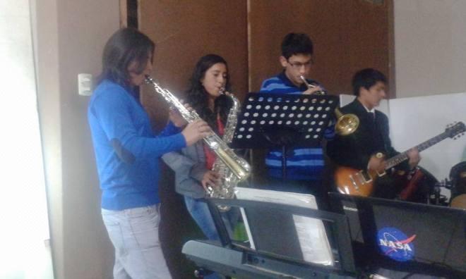 Student music recital Cajamarca, Peru