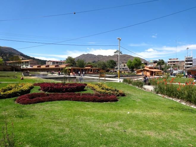 Incan baths in Cajamarca Peru