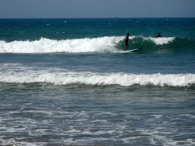 Surfing in Mancora, Peru
