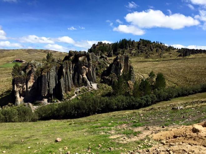 Cumbe Mayo, Peru volcanic rock pillars