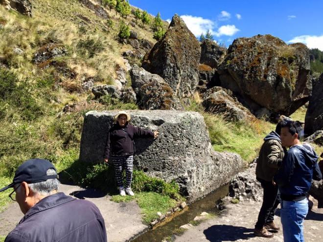 Sacrificial rock in Cumbe Mayo, Peru