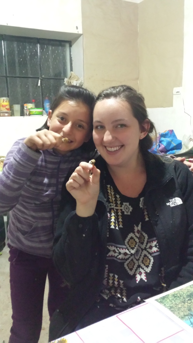 Eating guinea pig in Peru cuy