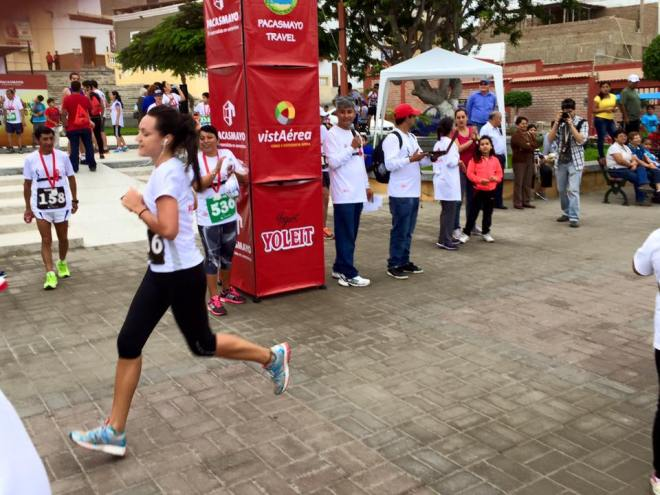 Peace Corps Volunteer running 10k on 4th of July Pacasmayo International Maraton