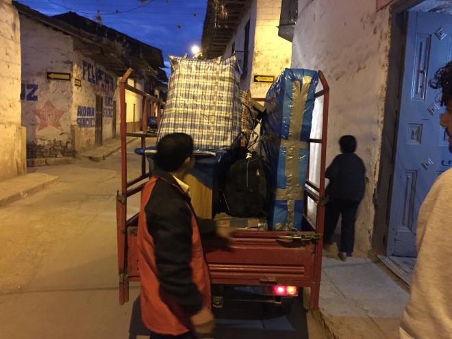 Moving via moto in Cajamarca, Peru