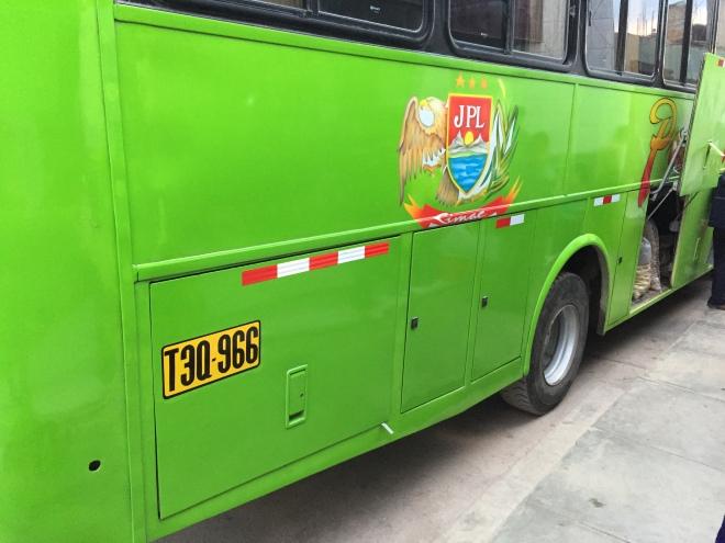 bus from Santa Cruz to Chiclayo moving Pasamayo