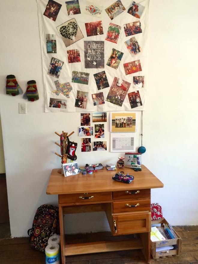 DIY Desk Photo Wall Peace Corps cribs