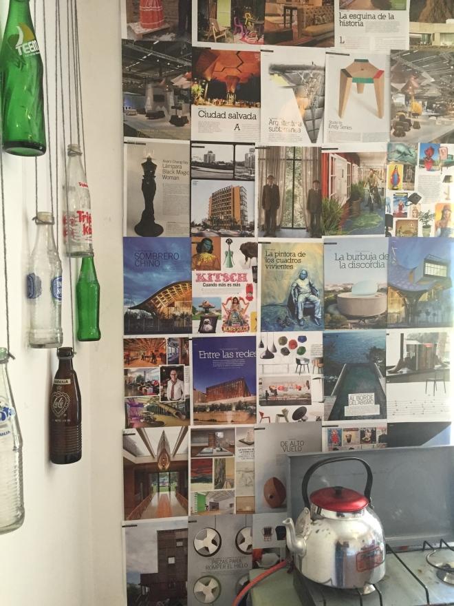 Magazine wall DIY kitchen Peace Corps Peru