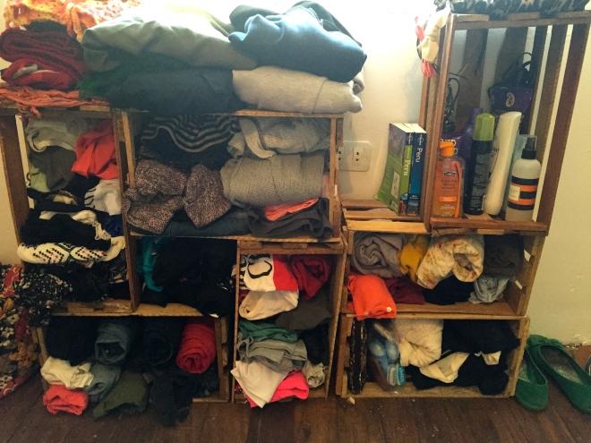 DIY Crate dresser Peace Corps cribs Peru