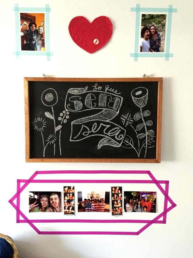 DIY wall art washi tape photo frames