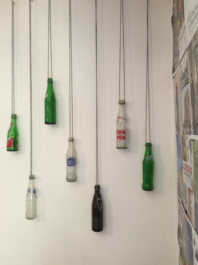 Bottle wall art DIY Peace Corps cribs Peru