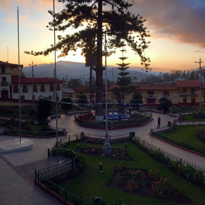 Sunset in Andes Mountains of Peru Peace Corps Contumaza, Cajamarca