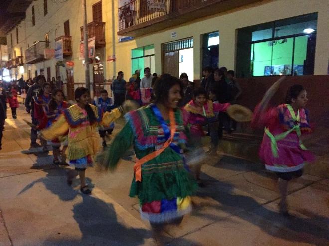 Universidad de Cajamarca baile Fiesta San Mateo dancing in Peru