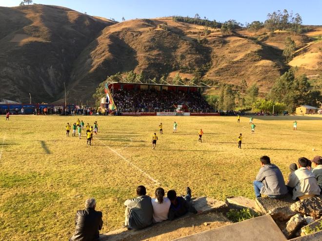 Soccer in Peru Futbol en Contumaza Cajamarca Fiesta San Mateo