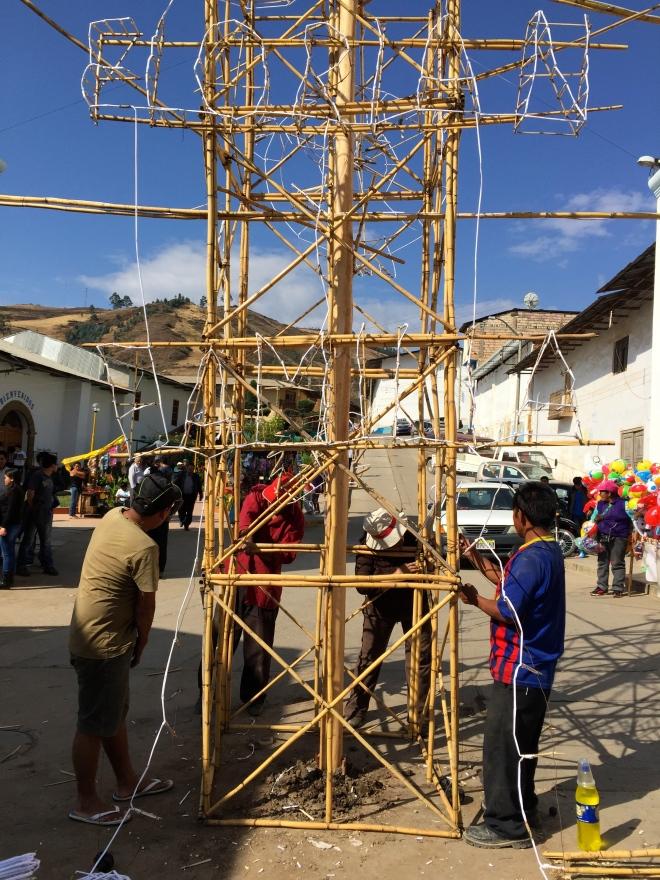 Castillo Fiesta San Mateo Contumaza, Cajamarca, Peru Peace Corps