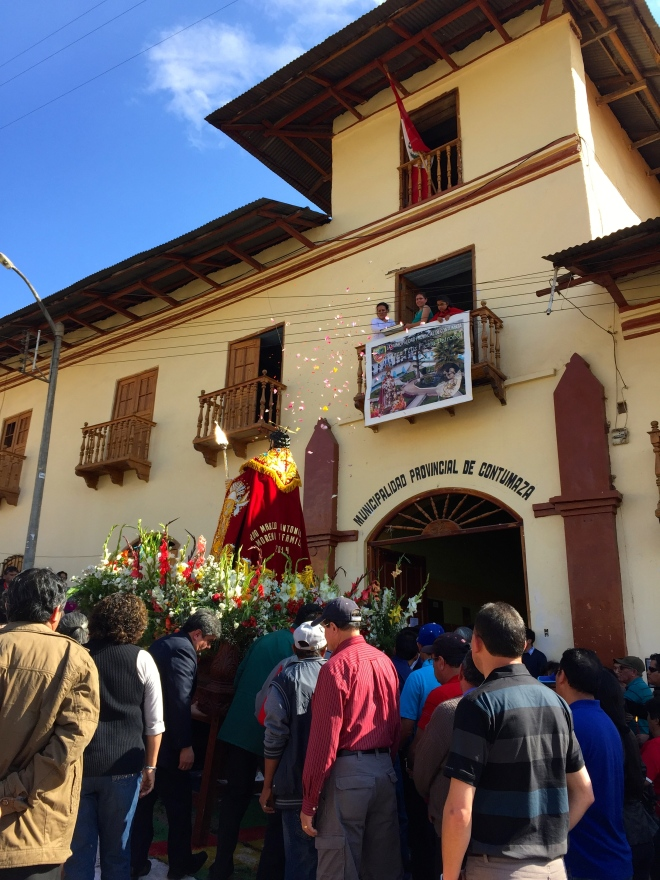 Fiesta Sane Mateo procession en Contumaza, Cajamarca, Peru Peace Corps