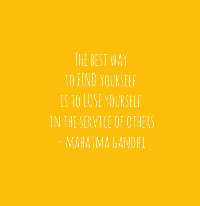 Gandhi quote about service the best way to find yourself