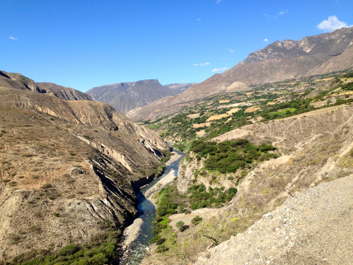 Andes Mountains from Chicalyo to Cajamarca Peru