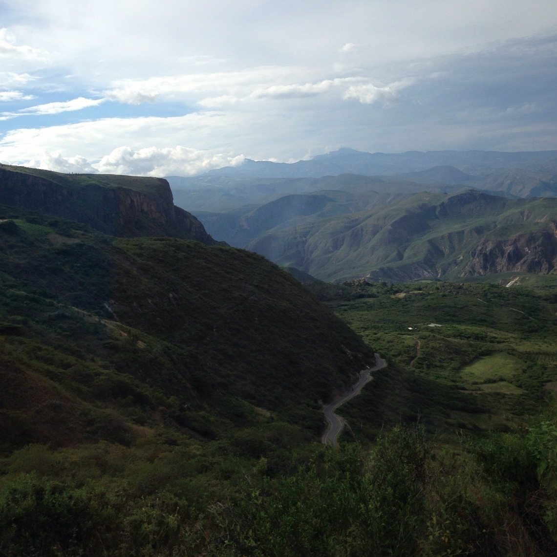 Andes Mountains road Peru