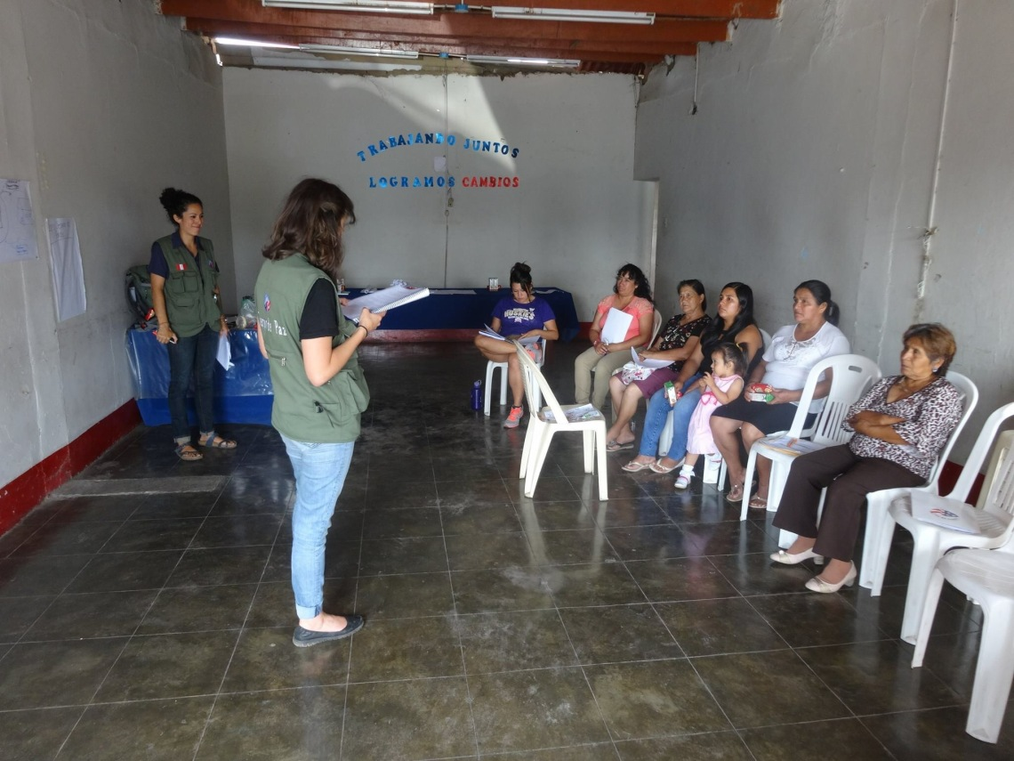Peace Corps Volunteers teach IGA classes in Peru