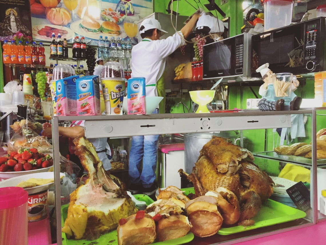 Cheap market street food Cajamarca Peru