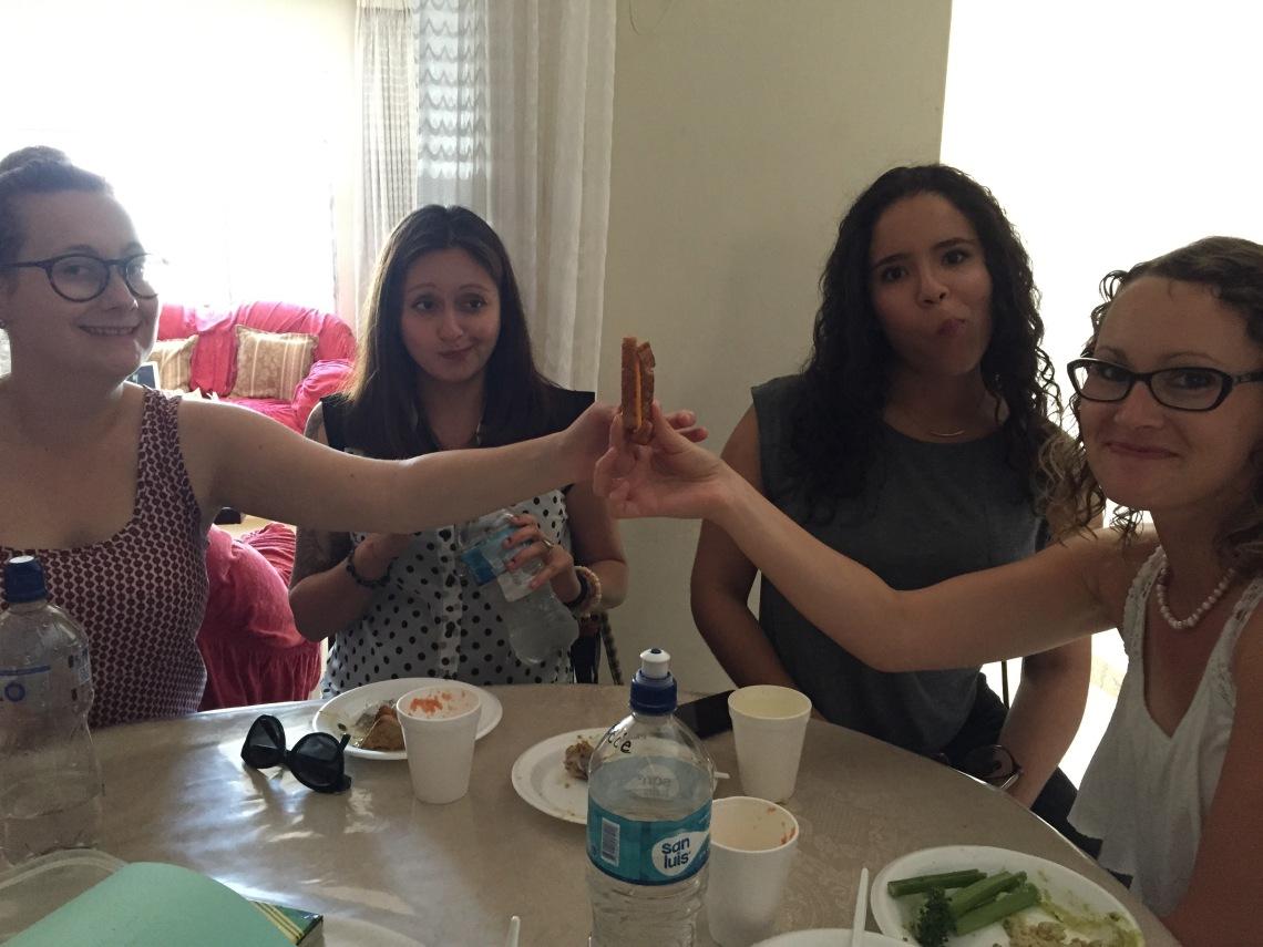 Sharing food in Peru Peace Corps Volunteers