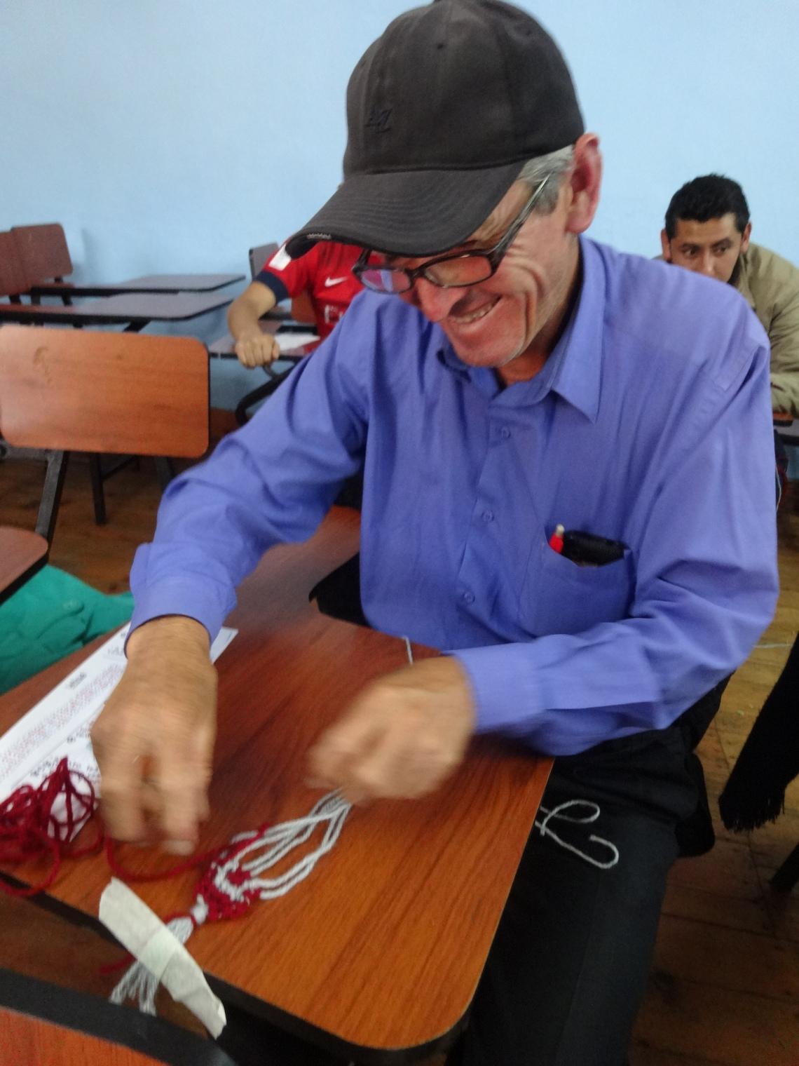 Male artisan Peace Corps Peru