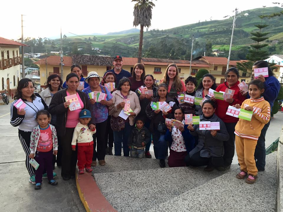 Artisan card making workshop Peace Corps Peru Womens Empowerment