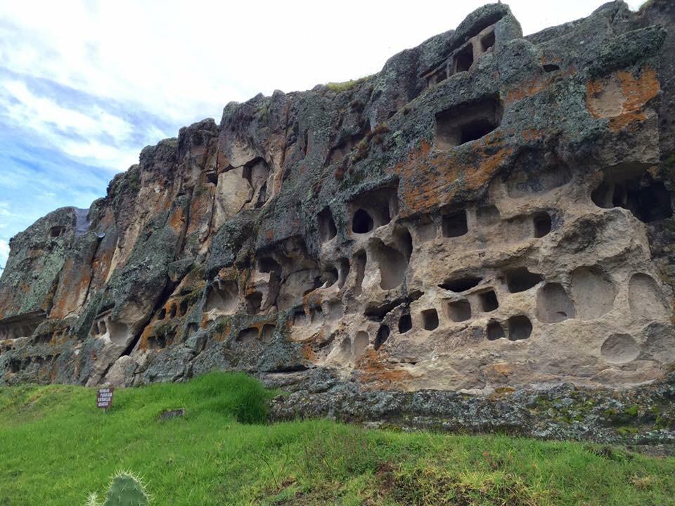 Ventanas de Otuzco, a Pre-Incan burial site in Cajamarca.