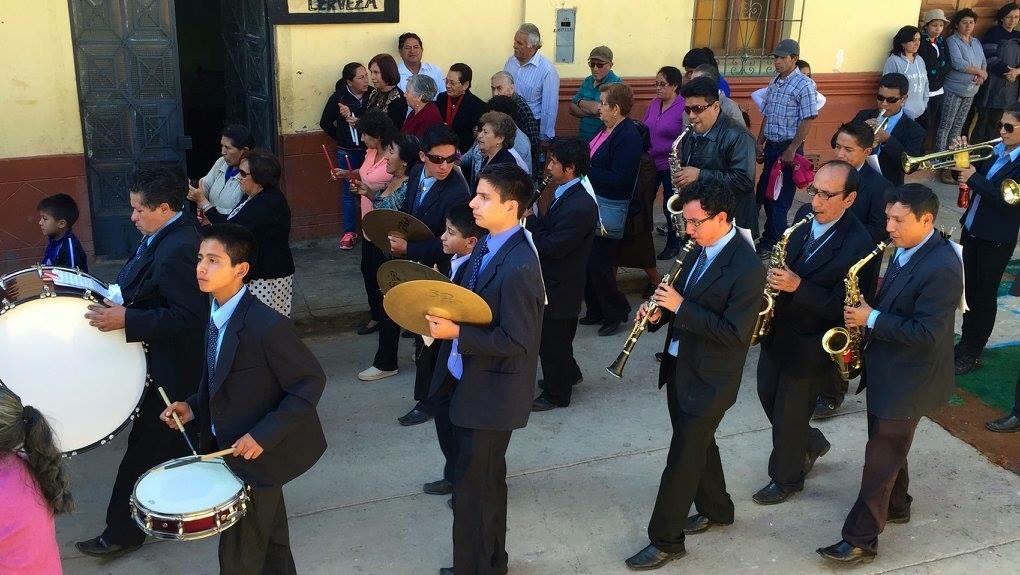 La banda procession marching band Peru
