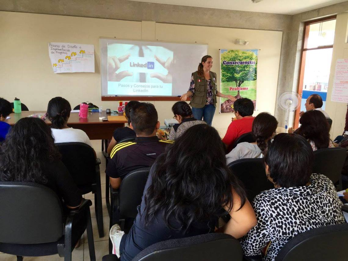 Peace Corps Peru Volunteer teacher training on LinkedIn Trujillo