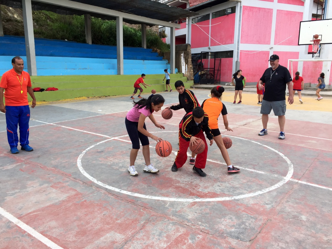 Playing Basketball Peace Corps Peru Goal 2