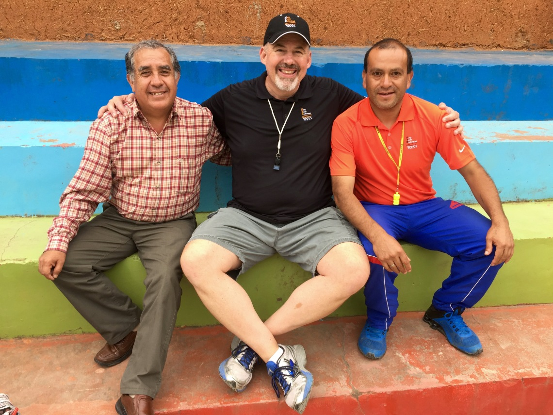 Basketball Coach and Principal with Dad in Peace Corps Peru