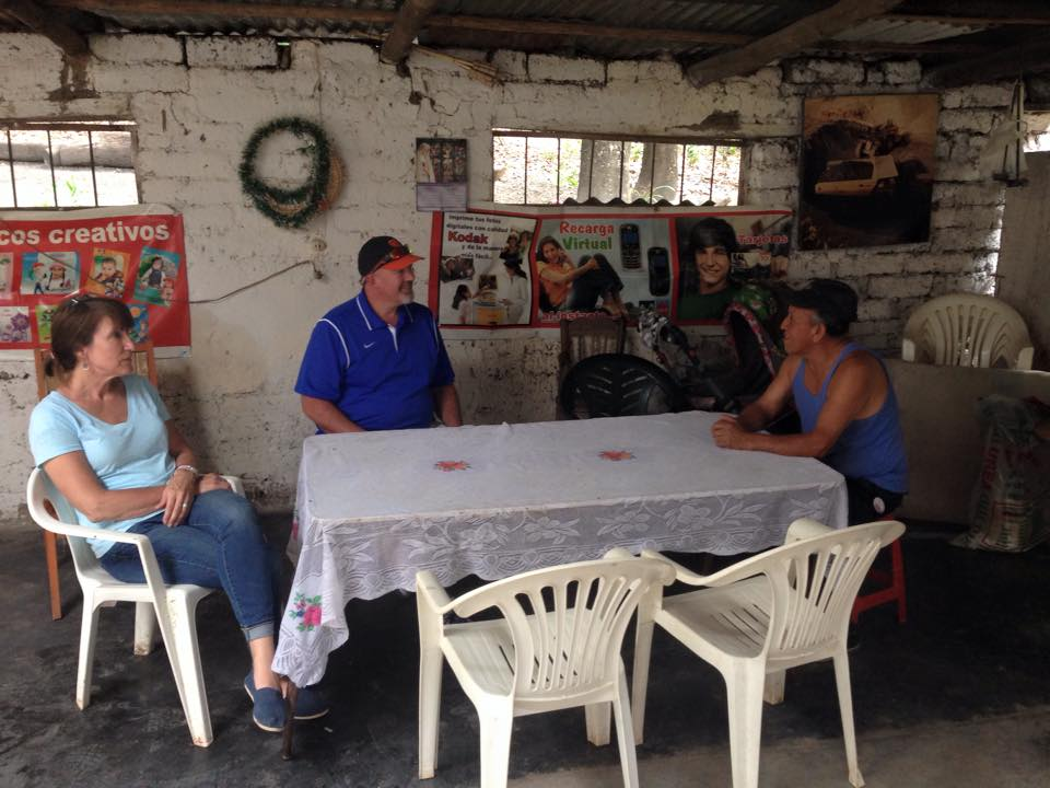 Eating lunch in the campo Peace Corps Peru